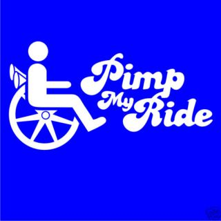 Pimp My Ride Printed T Shirt Wheelchair Disabled Gift