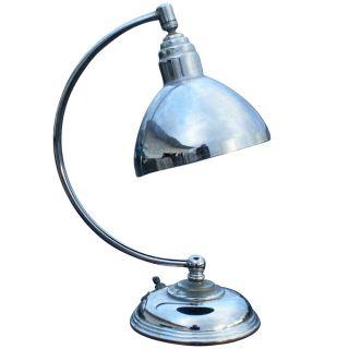 1930 Art Deco Machine Age Lamp Christian Dell Style