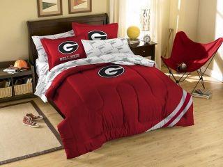 Georgia Bulldogs UGA Bed in A Bag Comforter Set