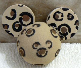 DISNEY ANIMAL KINGDOM MICKEY MOUSE LEOPARD CAR ANTENNA TOPPER BALL NEW