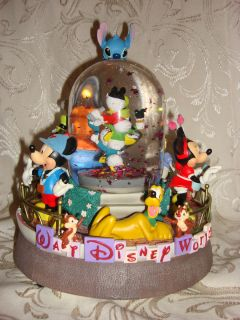 Disney Snowglobe Walt Disney World EntryWay Mickey Minnie Pluto Donald