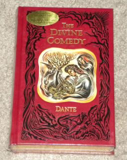 Dantes The Devine Comedy Hardcover Leather Book New
