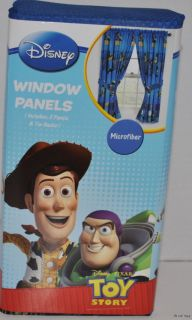 New Disney Toy Story 3 Window Curtains Drapes Pair of Panels Set 82 x