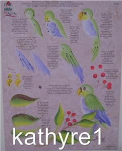 Donna Dewberry One Stroke Gold Finch Parrot Worksheet