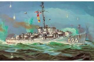 Lindberg 1/300 U.S.S. DeLong Destroyer Plastic Scale Model Kit #70863