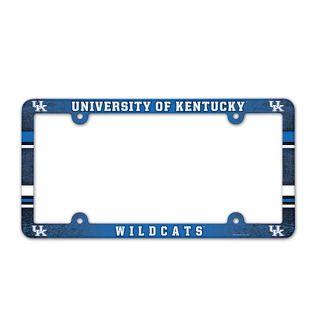kentucky wildcats plastic license plate frame