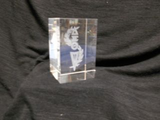 Delta Sigma Theta Etched Crystal Cube Collectable New In Box