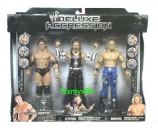 WWE Jakks Pacific Deluxe Aggression Orton Jeff Hardy Edge 3 Pack