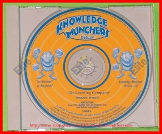 Knowledge Munchers Deluxe Kids Game PC CD ROM