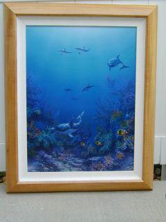 David Miller Original Oil Painting Dolphin Hideaway