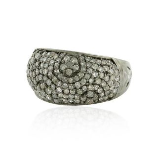 dome ring 1 32ct fine pave diamond fashion designer jewelry 14 kt gold