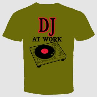 DJ T Shirt Retro Music Funny Cool Turntable Hip Hop Clubbing Wear Head