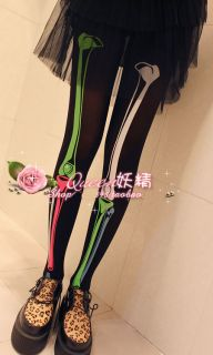 Halloween Women Lady Sexy Colorful Skull Slim Skeletons Leggings