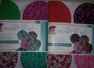 Lot Daisy Kingdom Floral Green Red Pink Black Yo Yo Rosette Kit