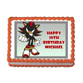Shadow The Hedgehog 2 Wii DS Game Edible Birthday Party Cake Image