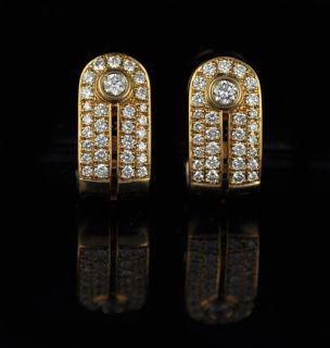 Di Modolo 18K Yellow Gold Diamond Earrings