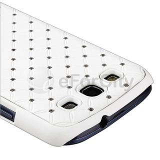White Deluxe Diamond Bling Case Phone Cover for Samsung Galaxy S3 III