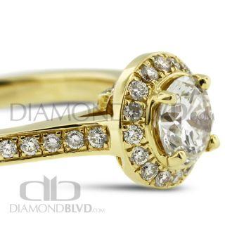 14k Gold Diamond Ring Natural 1 19ct Round E SI2