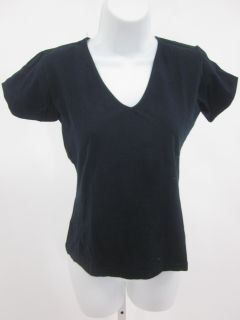 you are bidding on a dkny jeans navy short sleeve v neck shirt top in
