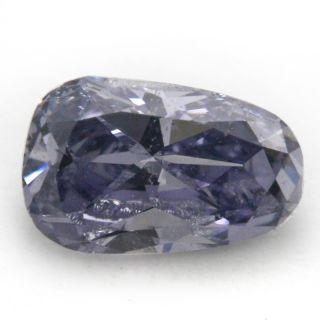 RARE GIA Certified Fancy Grey Violet Loose Natural Diamond Briolette