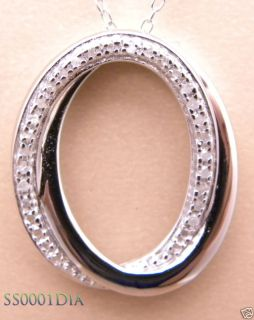 13ctw Genuine Diamond Circle Pendant Necklace New