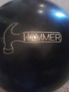 Hammer Map Black Bowling Ball 14 Lbs