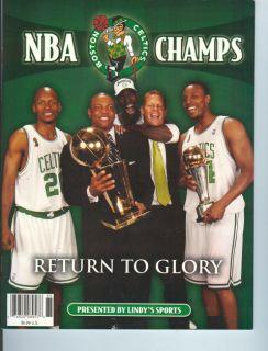 2008 Boston Celtics NBA Champs Return to Glory Magazine Tribute