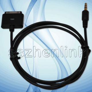 ipod dock cable end male to 3 5mm cable aux input