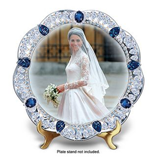 Royal Bride The Princess Kate Middleton Jeweled Collector Plate