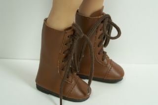 BROWN LaceUp Boots Doll Shoes For Dianna Effner 13 Vinyl♥