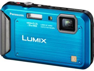 Panasonic Lumix DMC TS20 16 1 MP 4X Optical Zoom Digital Camera Blue