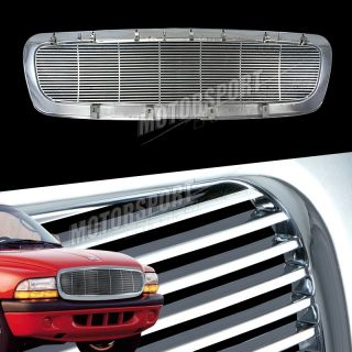 97 04 Dodge Dakota Durango Pickup Truck Chrome 1pc Billet Front Grille