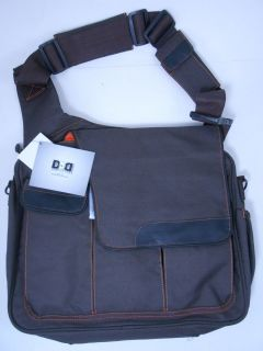 DIAPER DUDE Diaper Bag for Dad Messenger II With Flap Brown 1900