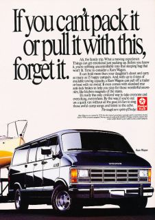 1990 Dodge RAM Van Wagon Vintage Advertisement Ad P54