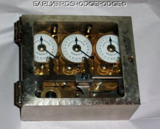 Antique 1900 1910 Sargent Greenleaf Inc Bank Time Lock Model Triple H