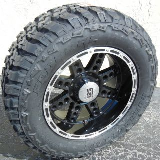 20x10 Black XD Diesel Wheels Rims 35 Federal Couragia M T Tires Ford