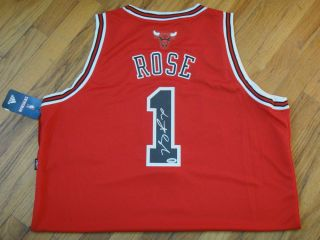 DERRICK ROSE PSA DNA SIGNED ADIDAS SWINGMAN CHICAGO BULLS JERSEY