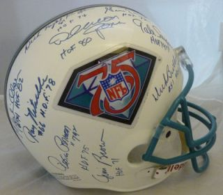 Hall of Fame Autographed Helmet w Nitschke Merlin Olsen Night Train 6