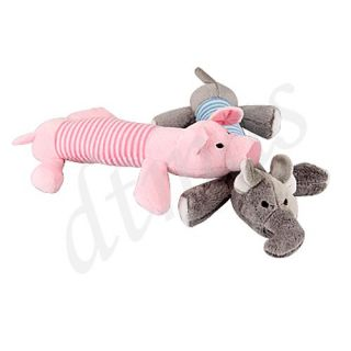 Dog Pet Puppy Chew Squeak Squeaky Plush Sound Pig Toy