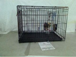 Double Door Folding Metal Dog Crate 36 inches x 24 inches x 27 Inches