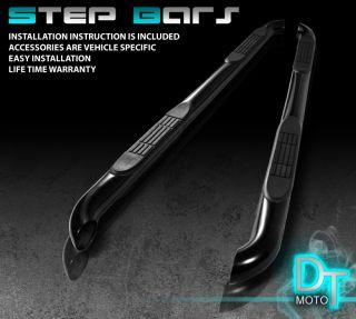 09 13 Dodge Journey 3 Side Step Nerf Bar Running Board Black Powder