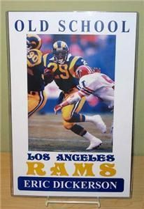 ERIC DICKERSON Old School Los Angeles Rams Poster