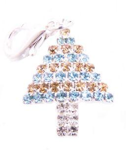 Rhinestone Christmas Tree Pendant Dog Collar Jewelry