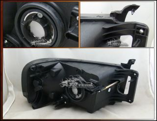 02 05 Dodge RAM 1500 2500 3500 Pickup Smoked Crystal Headlights Amber