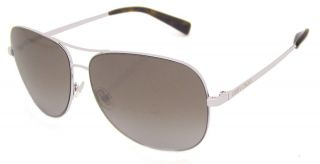 Jimmy Choo Didi HID Shiny White Metal Aviator Sunglasses