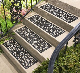 Set 4 Butterfly Design Stair Treads Outdoor Rubber NEW B0762