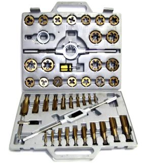 45 PC Tap and Die Set SAE Tungsten Steel Titanium Tools