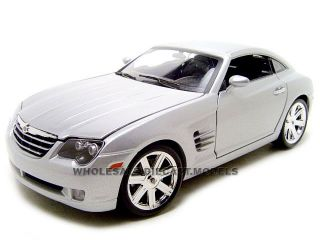 Chrysler Crossfire Silver 1 18 Diecast Model Car