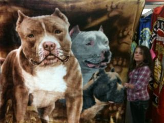 Pitbulls Pitt Pit Dogs Blanket Puppies Adopt Breed Red Nose Blue Grey