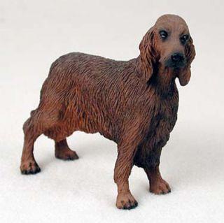 Irish Setter Hand Painted Dog Figurine Statue